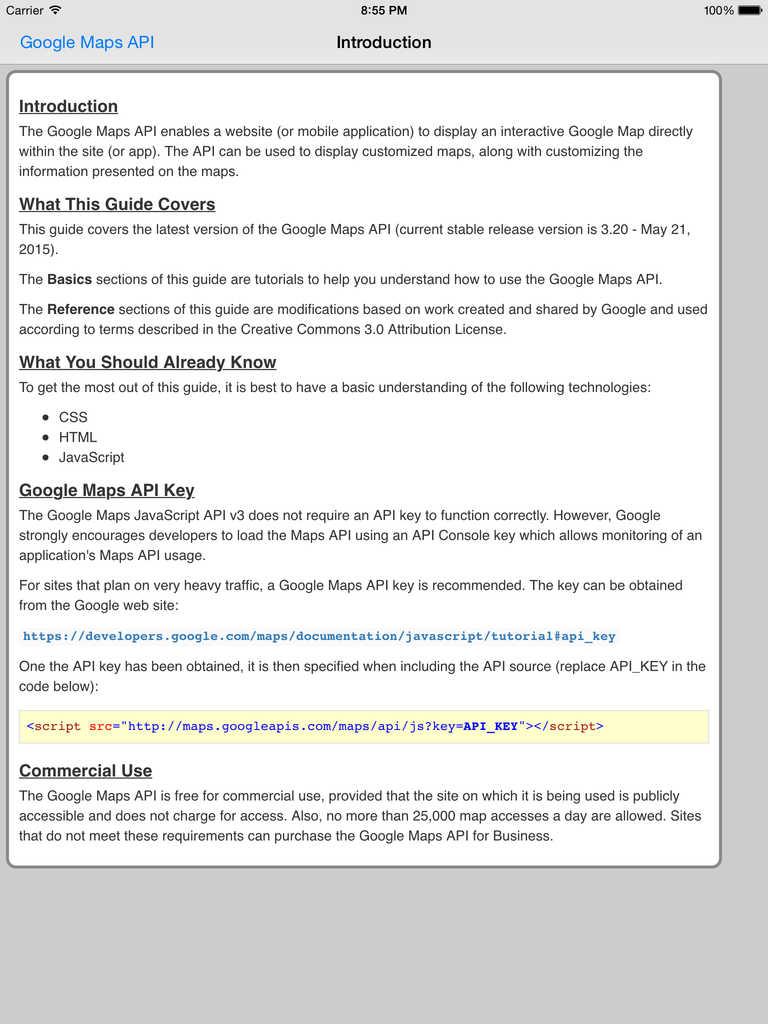 Web API for Google Maps Pro