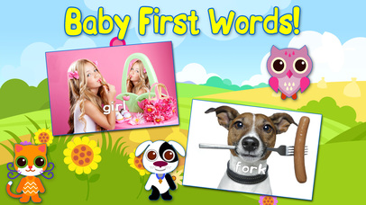 Baby First Words Book 1 Basics. Full Paid. Educational games for toddlers. Screenshot on iOS