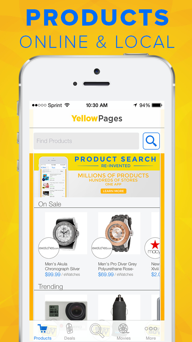 Yellow Pages Screenshot