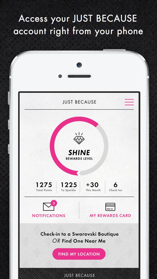 Swarovski Rewards JUST BECAUSE - AppRecs