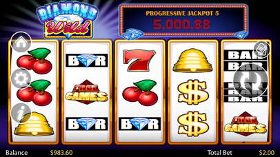 Diamond Wild - Comic Faulty Slot Machine - Online Casino slot machine games of iSoftBet Screenshot on iOS
