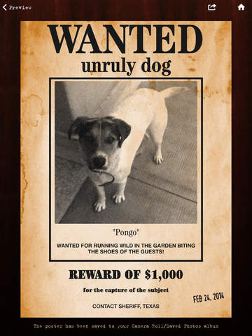 Wanted Poster Pro Screenshot