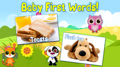 Baby First Words Book 2 House. Free educational games for toddlers. Screenshot on iOS
