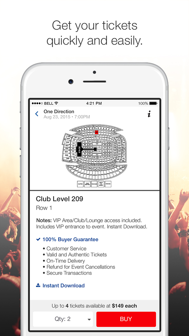 Online ticket marketplace where fans can buy and sell tickets to sports, concerts, and theater events nationwide.