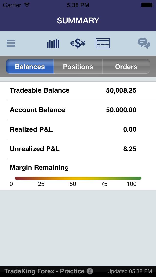 tradeking forex app
