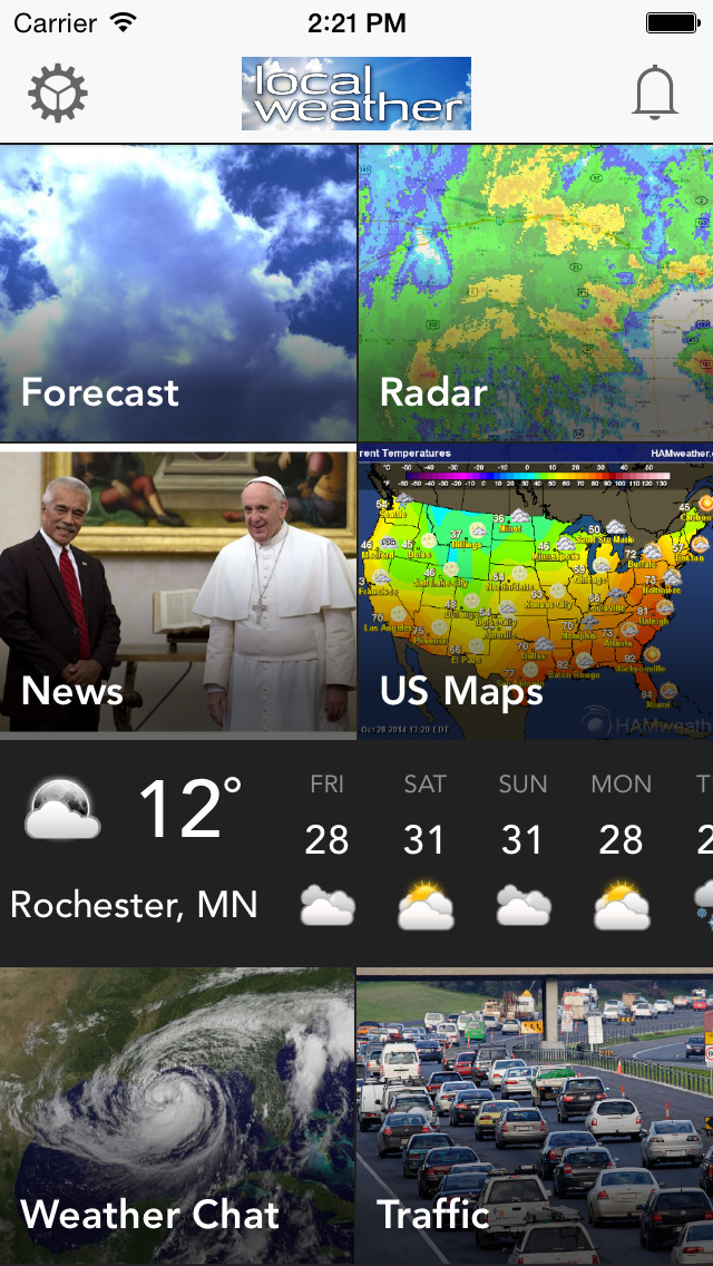 Local Weather: Live Radar, Storm Tracker, Severe Forecasts, News Alerts & Traffic Warnings - Free app Screenshot