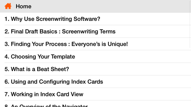 Screenwriting software