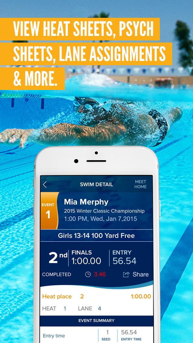 best swim meet app