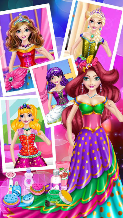 Fashion Princess Dress - makeover girly games Screenshot on iOS