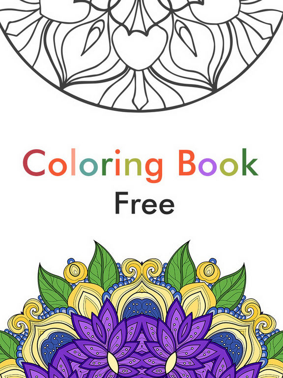 App Shopper Adult Color Therapy Pages Flower Coloring