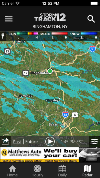 WBNG Storm Track 12 Screenshot