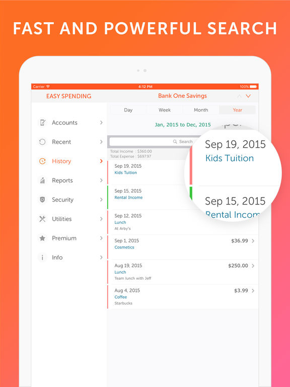 Easy Spending - Expense tracker, Money Management Screenshot