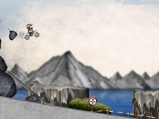 Stickman Downhill - Motocross Screenshot