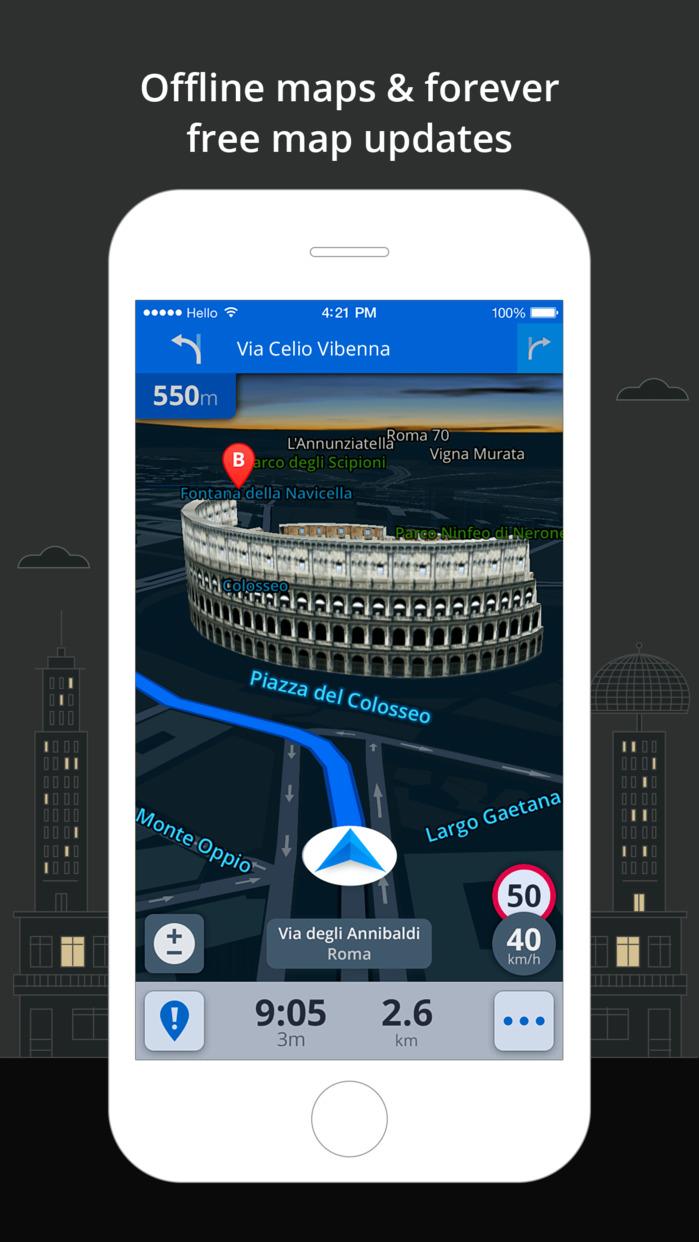 Sygic: GPS Navigation, Maps, Traffic, Gas prices Screenshot