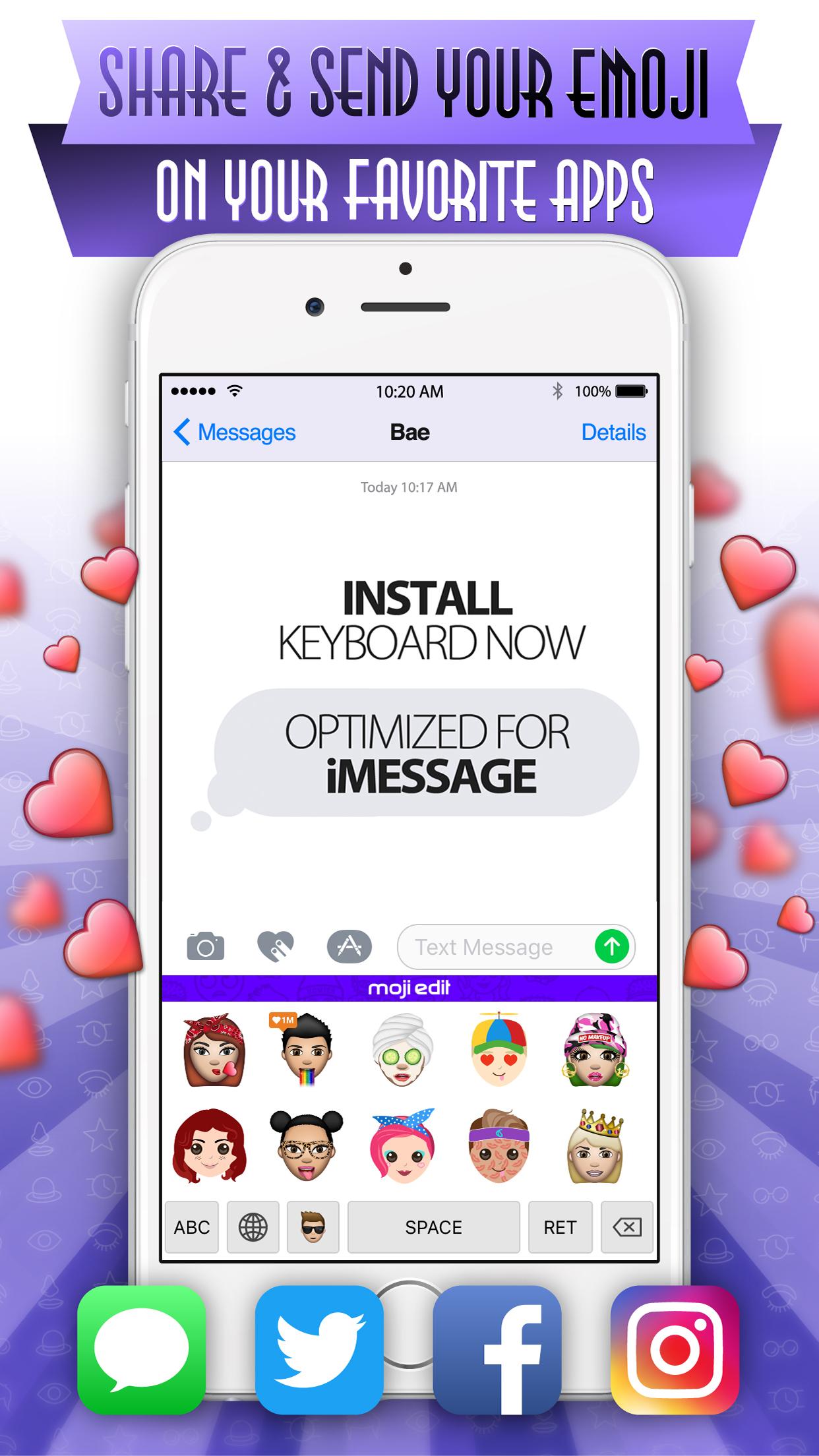 Moji Edit- Your Custom Emoji Avatar Face Screenshot