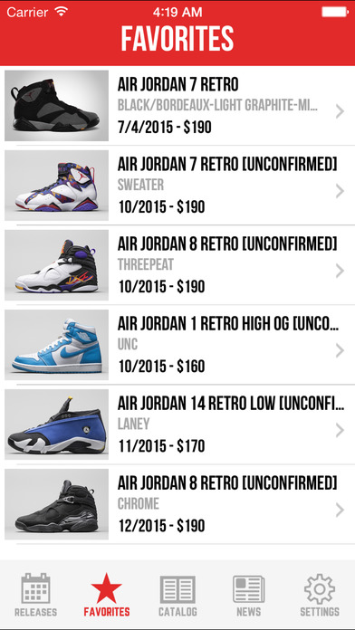 finest selection 05680 8bdd6 ... Sneaker Crush Pro  Air Jordan   Nike Release Dates screenshot ...