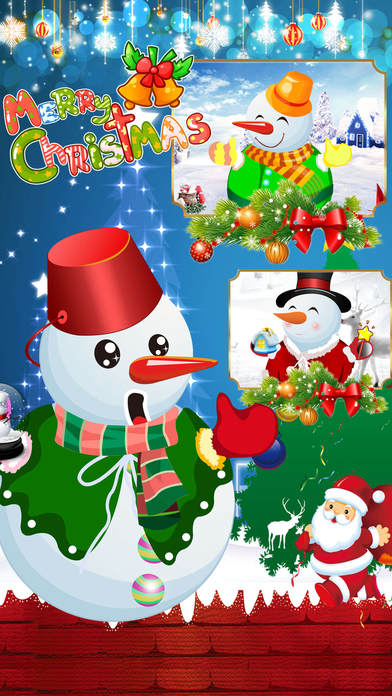 Christmas Snowman Decoration -Fashion dress Screenshot on iOS