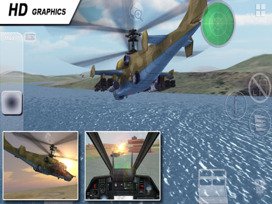 Black Shark HD - Combat Gunship Flight Simulator Screenshot