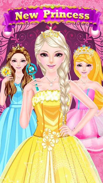 Fashion Pearl Princess Salon-Fun&Free Girls Games Screenshot on iOS