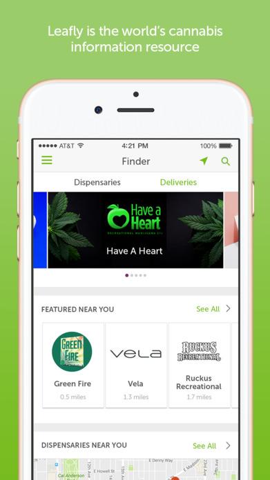 Leafly Marijuana Strain and Dispensary Reviews Screenshot