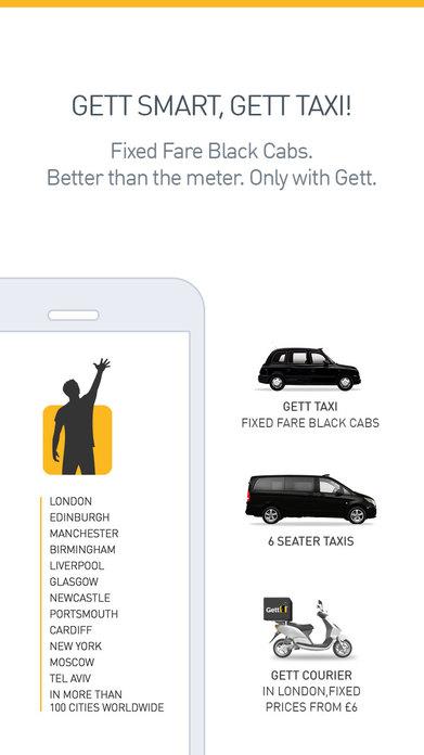 Gett - Best UK Black Cab Fares Screenshot