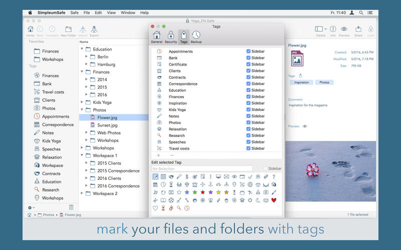 SimpleumSafe - secure and easy file encryption for Mac