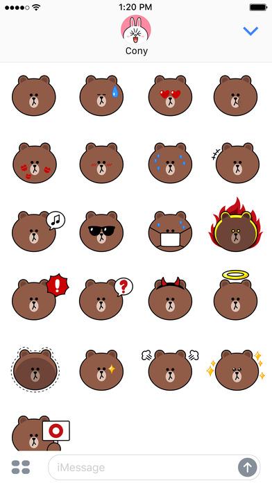 Sweet BROWN Emoji Stickers - LINE FRIENDS App Download ...