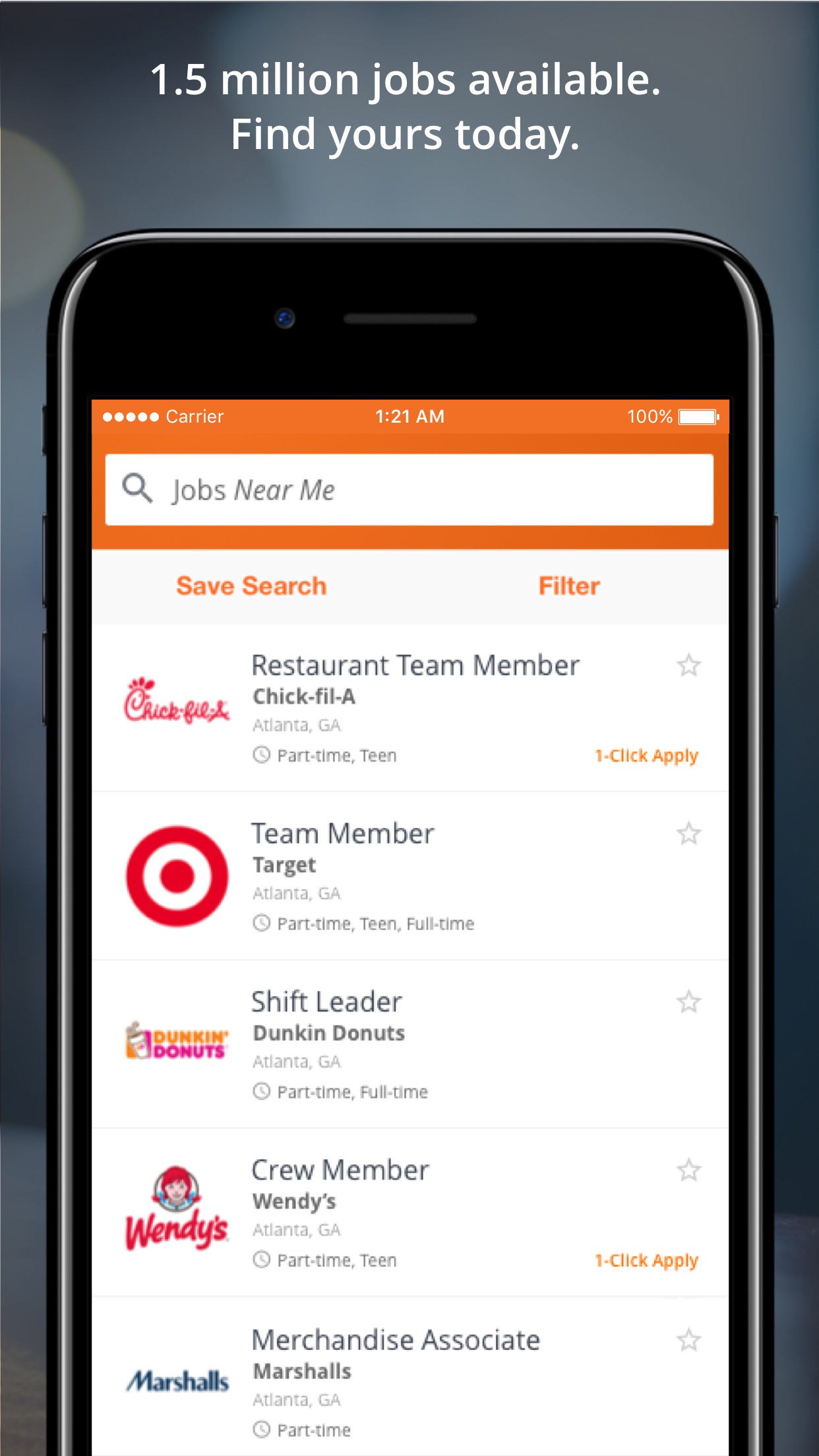 Snagajob - Search and Find Hourly Jobs Screenshot