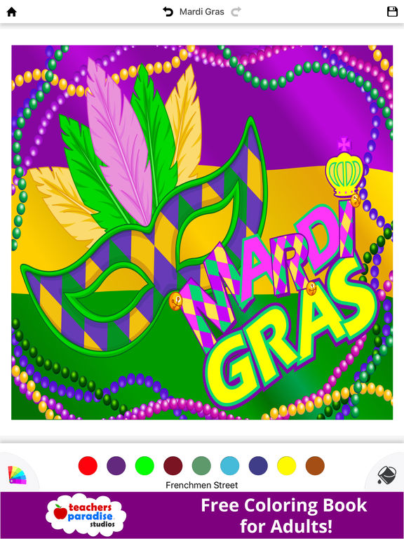 fat tuesday coloring pages - photo #45
