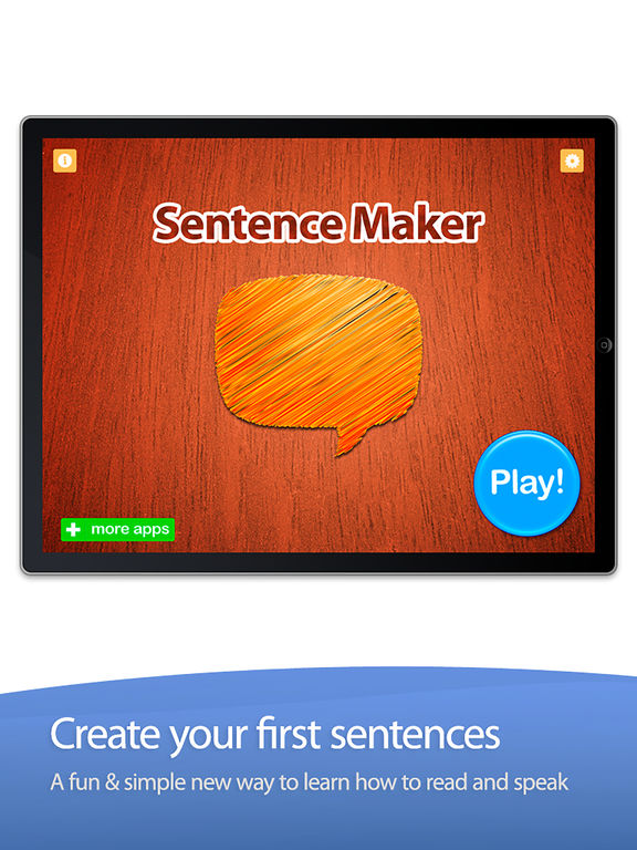 Sentence Maker: Educational Learning Game for Kids Screenshot