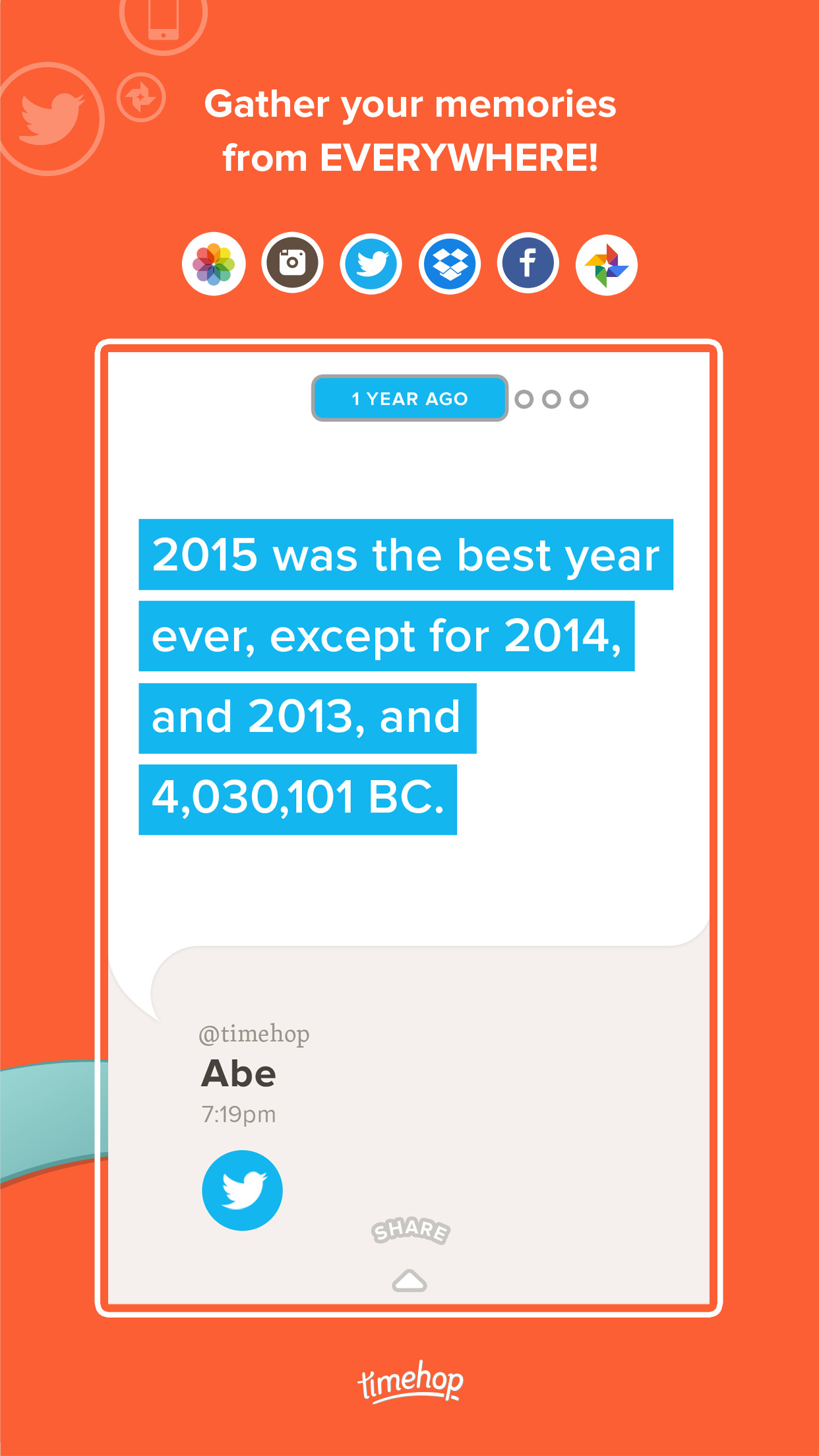 Timehop Screenshot