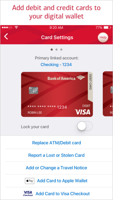 where do i find my bank of america credit card pin number