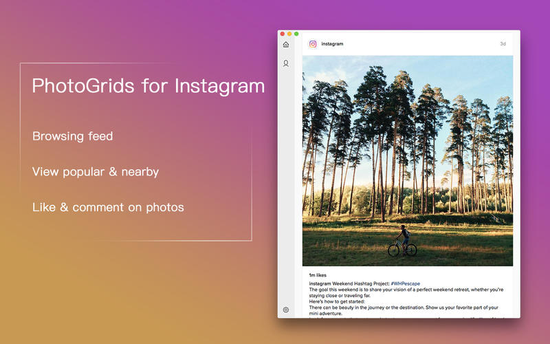 PhotoGrids for Instagram for Mac 1.5.6 激活版 - 出色的第三方Instagram客户端