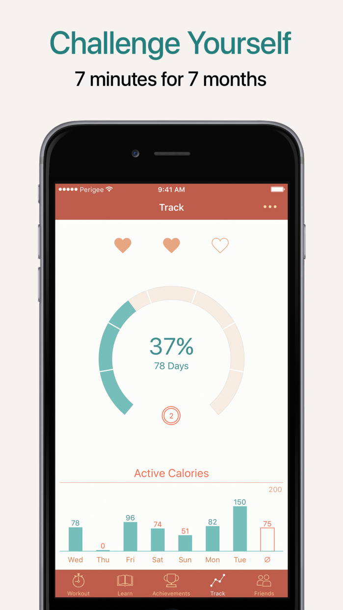 Seven - 7 Minute Workout Training Challenge Screenshot