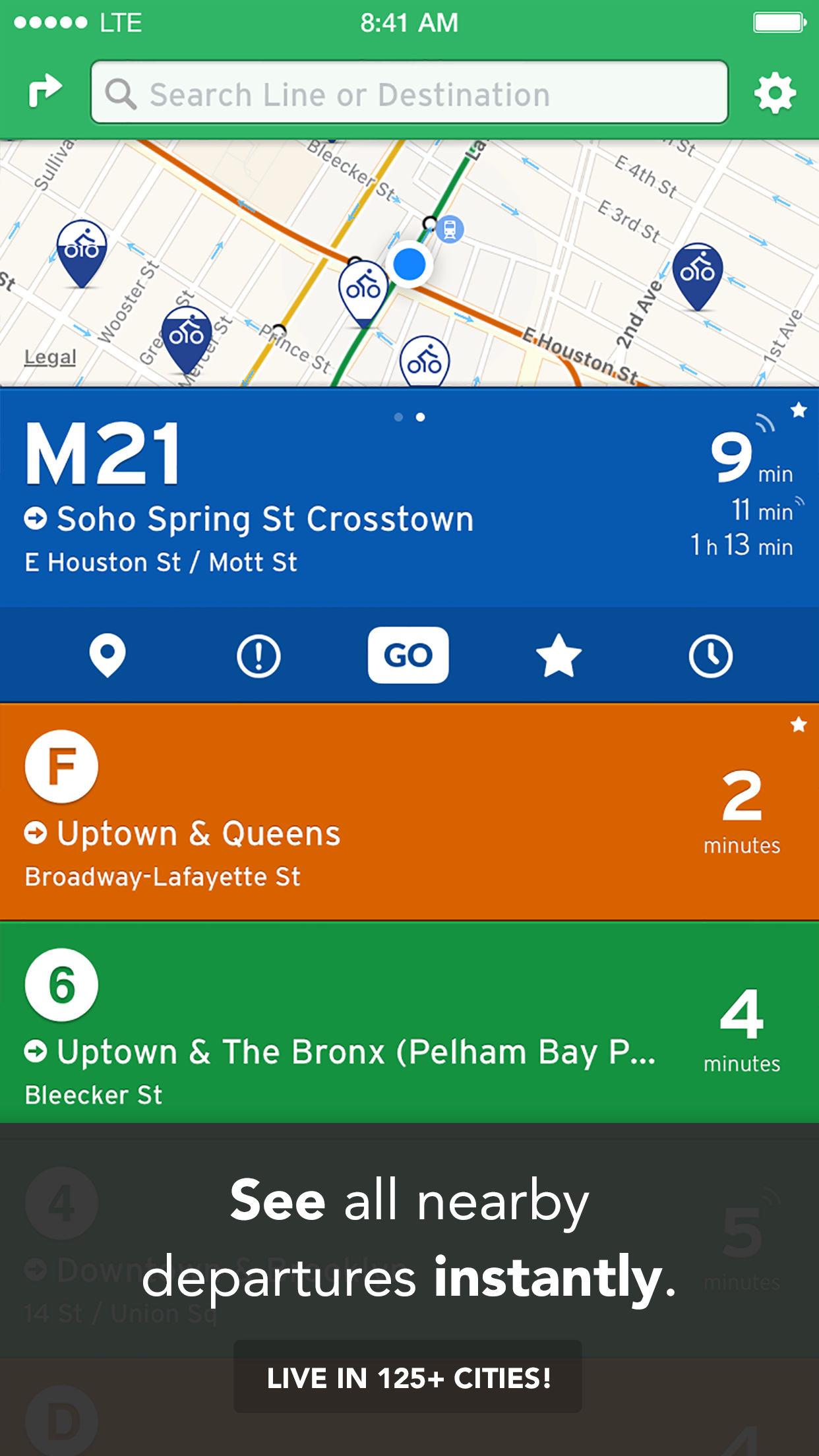 Transit • Real-Time App for Bus, Subway & Metro Screenshot