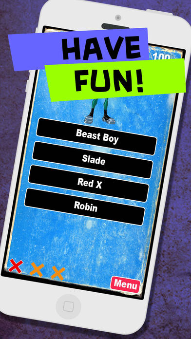 Super Quiz Character Game for Kids: Teen Titans Version Screenshot on iOS