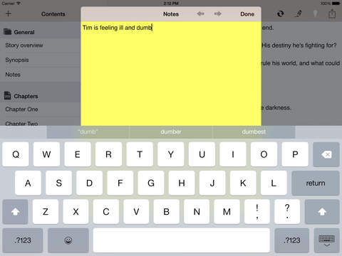 ulysses writing app