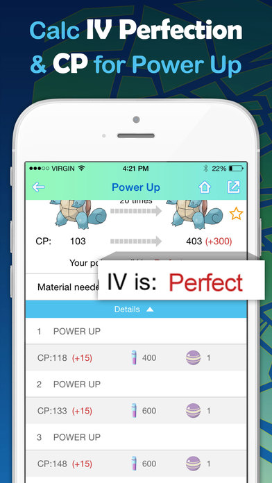 CP & IV Calculator for Pokemon GO - Power Up & Evolution Simulator