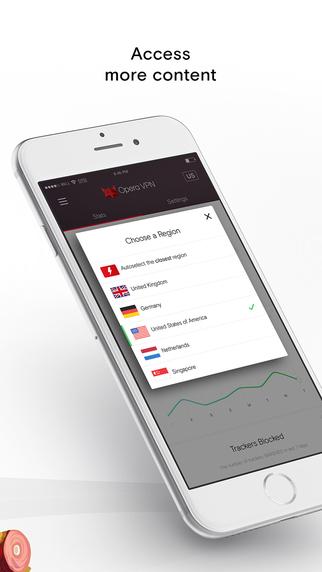 Opera VPN: Free unlimited ad blocking VPN Screenshot