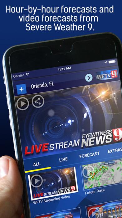 WFTV Channel 9 Weather Screenshot