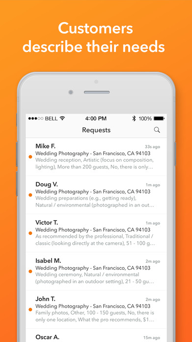 Thumbtack for Professionals Screenshot