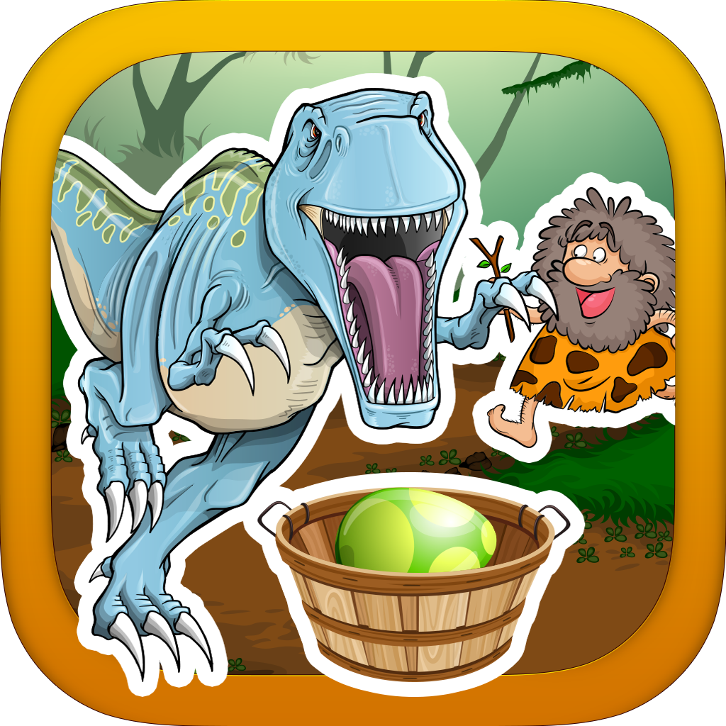 A Prehistoric Stone Age War with Dino Beasts- Catch the Rolling Egg and Hunt the Dinosaurs - Full Version