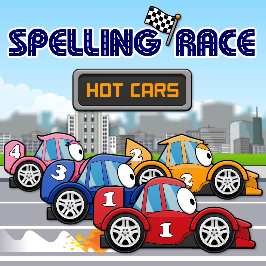 Spelling Race: Hot Cars
