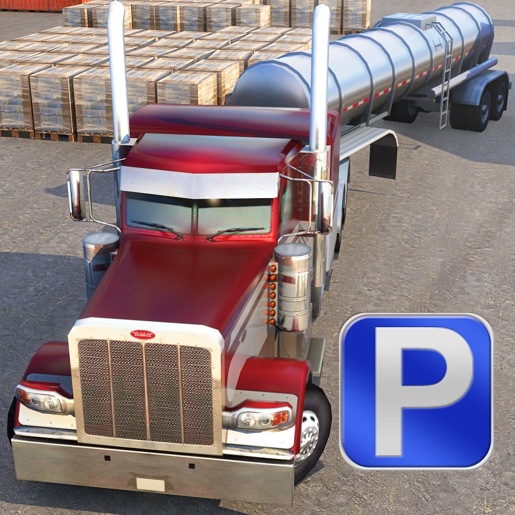 3D Semi Truck Parking PRO - Full Real Trucker Simulator Driving Version