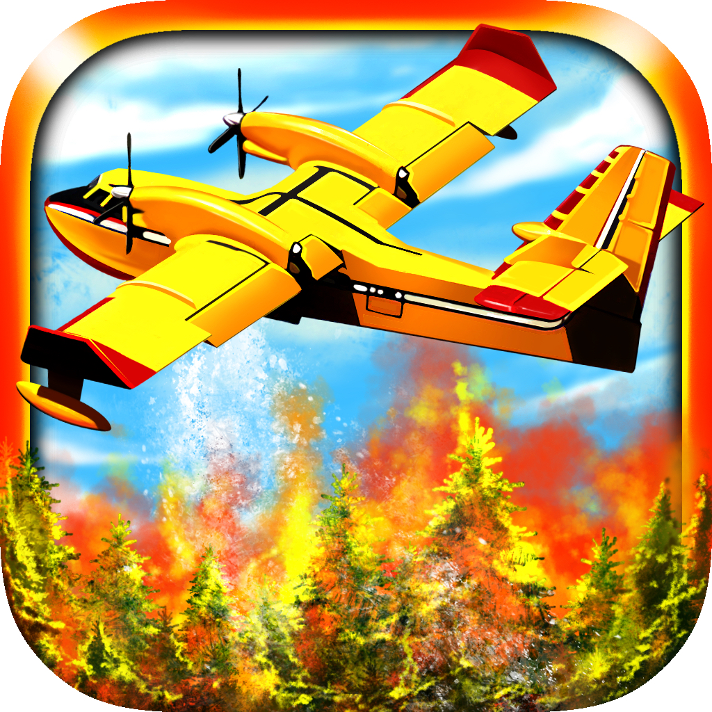 Airplane Firefighter Simulator - eXtreme 3D Landing Firefighting Emergency Rescue Flying Games