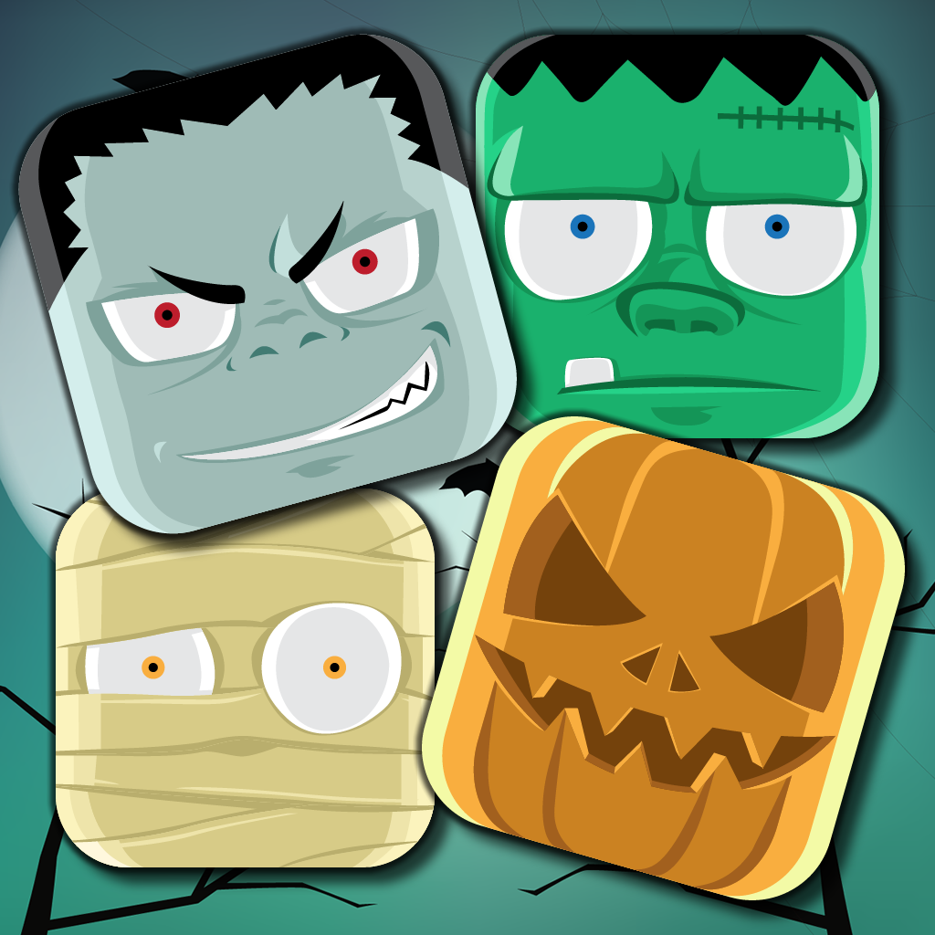 Halloween Crazy - Match Spooky Monsters, Zombies, Mummies, Pumpkins, Skeletons & Frankenstein