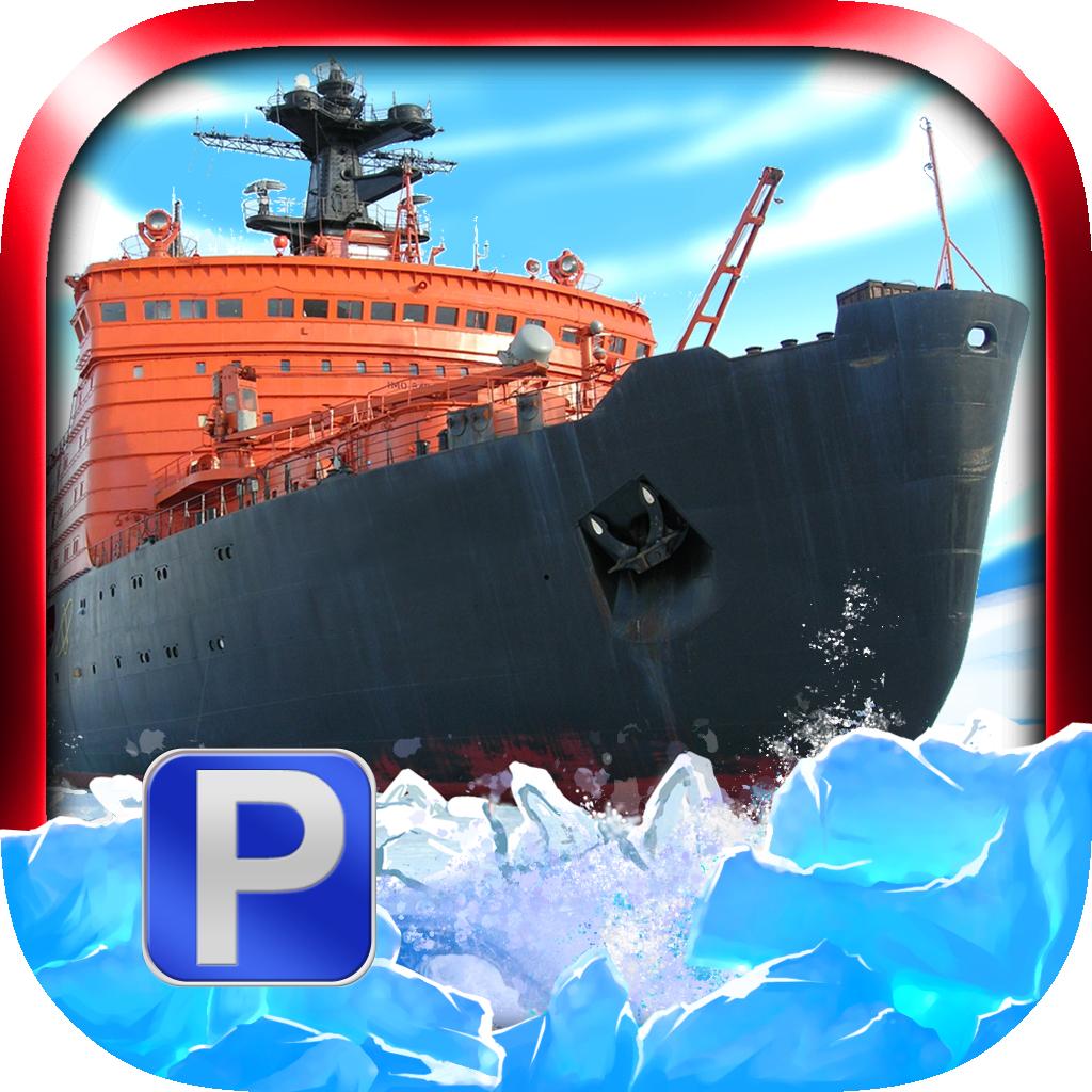 'Arctic Boat Parking Free - Real Ice Breaker Ship Driving & Simulation Sailing Games