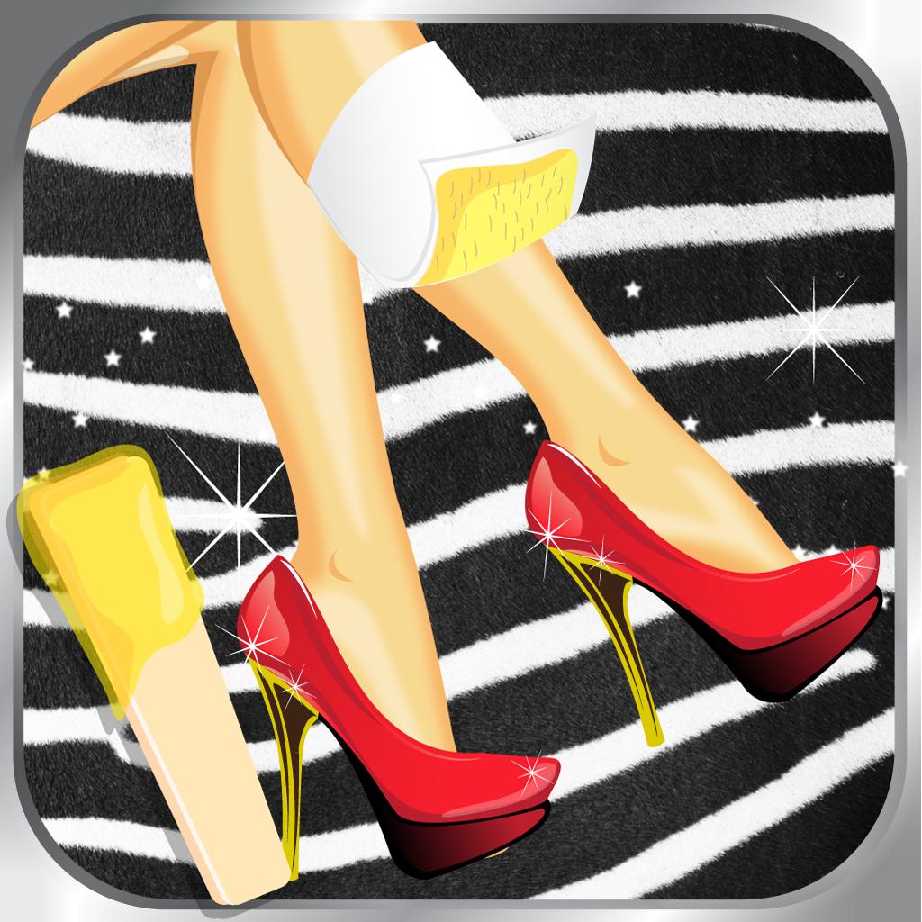 Leg Wax-ing Beauty Spa Salon - Fun Kids Virtual Fashion Dress-Up Games for Girls