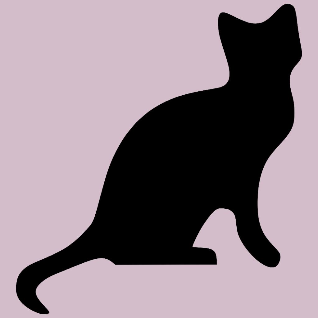 Животных кот черный силуэт спать Мультфильм собака Бесплатные млекопитающих кошки животных Silouette...