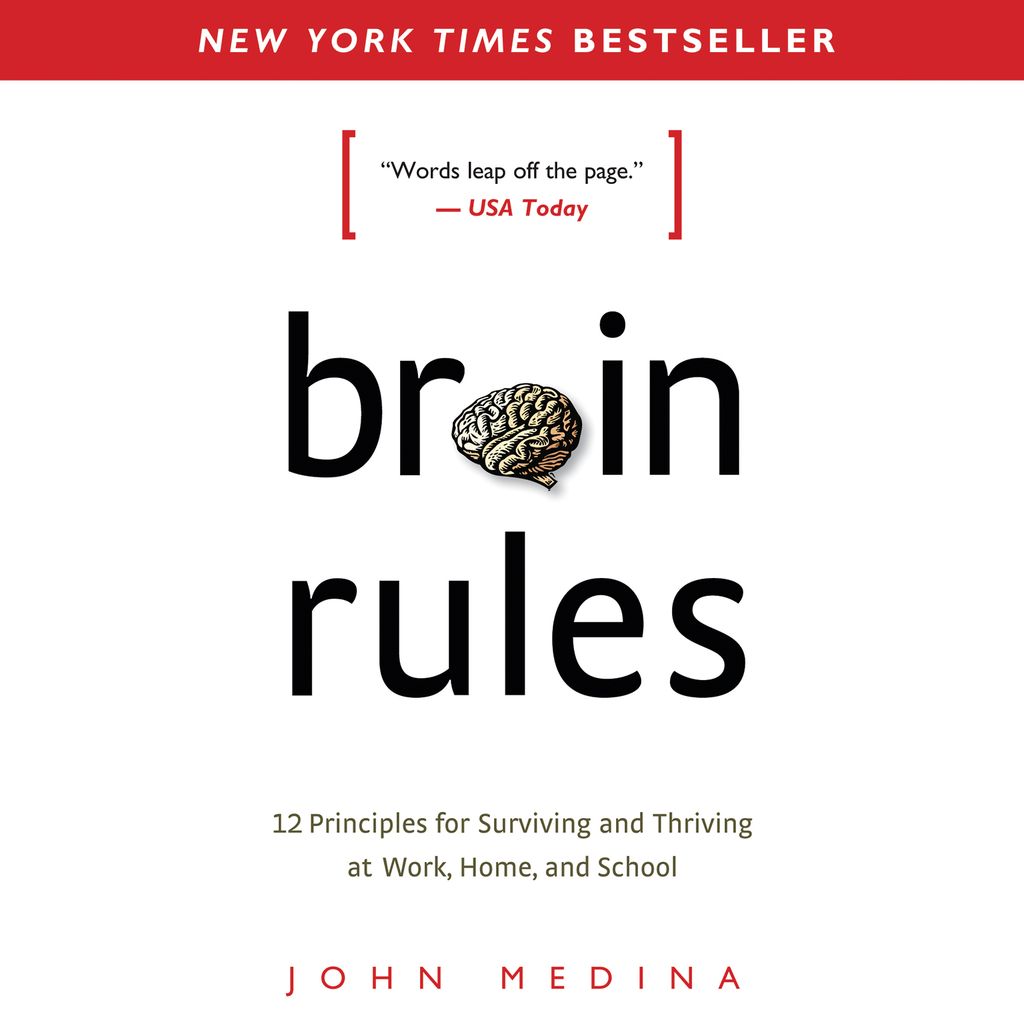 Brain Rules by John Medina - Best-Selling Book, Inkling Interactive Edition with Audiobook